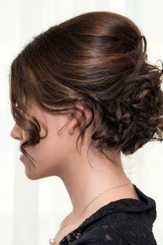 50 Frisuren für schulterlanges Haar - Uns gefällt diese Hochsteckfrisur für schulterlanges Haar. Ihnen auch?