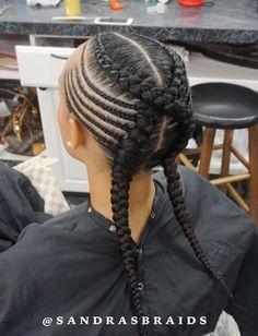 - 70 Best Black Braided Hairstyles That Turn Heads Criss-Crossed Braids with Feed-in Cornrows Kids Braided Hairstyles, Box Braids Hairstyles, African Hairstyles, Girl Hairstyles, Black Hairstyles, Hairstyles 2018, Teenage Hairstyles, Hairstyles Videos, Simple Hairstyles