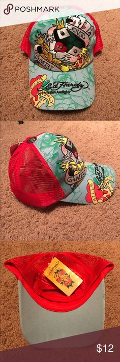 Ed Hardy hat Brand new, adjustable Accessories Hats