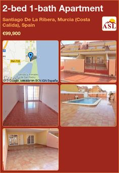 2-bed 1-bath Apartment in Santiago De La Ribera, Murcia (Costa Calida), Spain ►€99,900 #PropertyForSaleInSpain