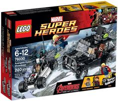 LEGO Super Heroes Avengers Hydra Showdown 76030 Set Toy Brand New in Box and Sealed Thor Hawkeye Marvel Comic Book by entertainmentplace on Etsy The Avengers, Legos, Offroader, Lego Marvel Super Heroes, Buy Lego, Epic Fail Pictures, Age Of Ultron, Lego City, Building Toys