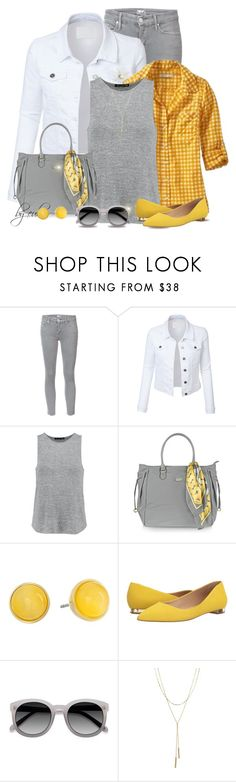 """""""Gingham Style (Outfit Only)"""" by eula-eldridge-tolliver ❤ liked on Polyvore featuring Mother, LE3NO, Old Navy, rag & bone, Bric's, Kate Spade, Massimo Matteo, Ace and Bloomingdale's"""