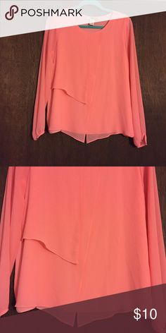 Beautiful draped candy pink organza blouse Beautiful draped candy pink organza blouse forever 21 size medium. This is so beautiful and flattering, layers of organza drape over one another in the front for a flowing feminine look. Gently preloved, great condition, no flaws Forever 21 Tops Blouses