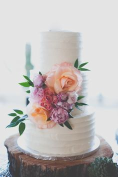 Floataway Studios; Beautiful Malibu Wedding from Floataway Studios. - wedding cake