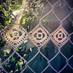 kategardiner:  Fence #crochet #art  (Taken with Instagram)