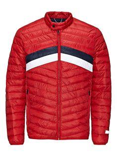 CORE by JACK & JONES - Rüschen-Jacke von CORE - Regular fit - Wattierung mit synthetischen Fasern - Bandkragen mit Schnappknopf - Durchgehender Reißverschluss - Saum und Bündchen sind elastisch - Taschen mit Reißverschluss - Das Modell trägt Größe L und ist 187 cm groß Außenmaterial: 100% Polyester, Futter: 100% Nylon...