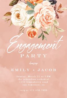 Rustic Roses - Engagement Party Invitation #invitations #printable #diy #template #Engagement #party #wedding Housewarming Invitation Templates, Engagement Party Invitations, Wedding Engagement, House Warming, Roses, Printable, Place Card Holders, Rustic, Island