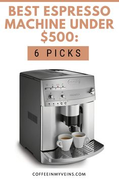Want great espresso on a budget? Check out these picks for the best espresso machine under $500. We've chosen some superb machines for you. Italian Espresso, Espresso Shot, Espresso Maker, Gaggia Espresso Machine, Automatic Espresso Machine, Espresso Machine Reviews, Best Espresso Machine, Best Coffee Maker, Drip Coffee Maker