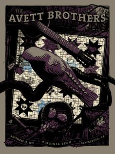 Love the Avett Brothers & love the star quilt in the back of this promo poster for them :]