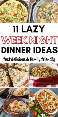 Here 11 lazy weeknight dinners that will make dinner a breeze. Life can get crazy and these 11 meals are sure to make life easier on busy weeknights. dinner for 2 Lazy Weeknight Dinners: 11 Family Friendly Meals - This Tiny Blue House Easy Family Meals, Quick Easy Meals, Healthy Dinner Recipes, Fast Easy Dinner, Inexpensive Meals, Vegetarian Recipes, Breakfast Recipes, Healthy Food, Appetizer Recipes