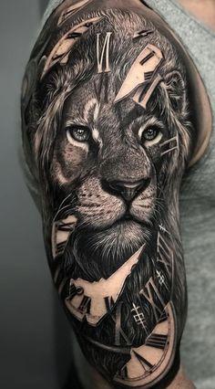 Badass sleeve tattoos for men тат tatuajes leones, tatuajes para hombres . Lion Head Tattoos, Mens Lion Tattoo, Tiger Tattoo, Wolf Tattoos, Body Art Tattoos, Lion Tattoos For Men, Tattoo Art, Mens Hand Tattoos, Tatoos Men