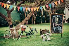 Wedding decoration bicycles