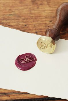Buy J. Herbin Custom Wax Seal - Round - Single Character - NoteMaker Stationery  $69.95 + Free Delivery