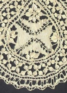 """Another distinguishing feature of Maltese/Gozo lace is the 8 pointed Maltese crosses that are worked into most, but not all of this lace. These crosses are done in what lacemakers call whole or cloth stitch. (see photo)       The last of the most recognizable features are the leaves known as """"wheat ears"""" or """"oats"""". They are plump and rounded in shape compared to the long narrow Bedfordshire lace leaves. Bedfordshire lace, which is sometimes compared to Maltese lace, has some similarities…"""