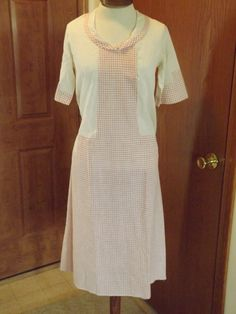 1920's Home Sewn Cotton Woman's Day Dress