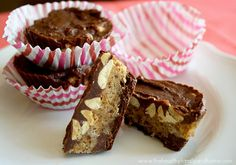 Raw Vegan Snickers BarsPrint recipe   www.thehealthyfamilyandhome.com The Healthy Family and Home