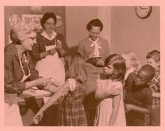 Students line up for rubella vaccinations in this photo from a 1970 Public Health Service brochure. The vaccination was a tough sell because it wasn't these kids' health that was at stake. The campaign appealed directly to Americans' sense of responsibility to the wider community.