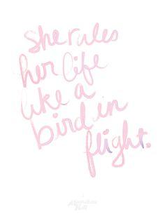 she rules her life like a bird in flight // rhiannon, fleetwood mac