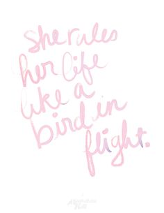 she rules her life like a bird in flight // rhiannon, fleetwood mac
