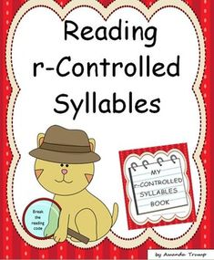 This reading unit provides 30 word lists of the –r -controlled syllable type words. Also, a master list of all the words is included and can be used as a quick reference. A –r-controlled syllable is one of the six types of syllables in reading. The lists in this unit include words spelled with a –r to the right of each vowel. These lists of words will help students recognize the various –r-controlled patterns.