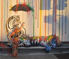 """Love this!  """"Catnap"""" by artist Michael Summers on PatFlor.com"""