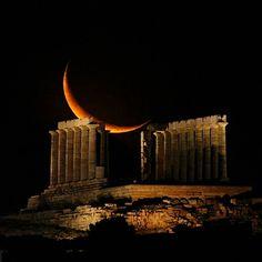 Temple of Poseidon at Cape Sounion, Greece Templo de Poseidon no Cabo Sounion, Grécia