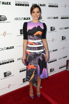 Aubrey Plaza attends the premiere of <em>About Alex</em> in Hollywood, California.