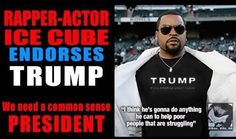 Trump supporters took to the internet over the weekend, and, in typical campaign mode, began creating endorsements where there were none. After seeing the endorsement pitched above, rap artist Ice Cube took to twitter for a brief defense: