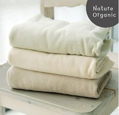 Organic Cotton Terry Cloth Knit Fabric in 3 Colors By the Yard
