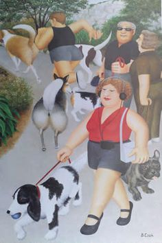 Beryl Cook ~ Dogs in the park