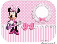 Minnie Mouse Pink, Minnie Mouse Party, Mouse Parties, Mickey E Minie, Disney Mickey, Baby Crafts, Diy And Crafts, Imprimibles Paw Patrol, Minnie Mouse Birthday Invitations