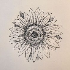 Please check more! Awesome What You Should Wear To Sunflower Tattoo Dotwork Sunflower Tattoo Shoulder, Sunflower Tattoo Small, Sunflower Tattoos, Sunflower Mandala, Tattoo Dotwork, Handpoked Tattoo, Original Tattoos, Line Drawing Tattoos, Tattoo Drawings