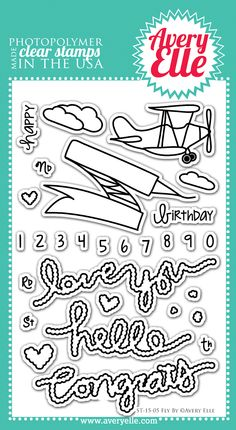 Fly By clear stamps - #AveryElle #CHA #scrapbook