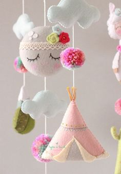 Llama Baby Mobile Llama and Cactus Crib Mobile Pom Pom Llama Crib Cot Mobile Llama Nursery Llama Cot Mobile, Baby Crib Mobile, Baby Cribs, Baby Mobiles, Boho Nursery, Nursery Decor, Felt Crafts, Diy And Crafts, Baby Shower Gifts