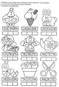 Láminas para Colorear - Coloring Pages: Actividades para . Bilingual Classroom, Bilingual Education, Spanish Classroom, Kids Education, Elementary Spanish, Teaching Spanish, Preschool Spanish, Spanish Vocabulary, Spanish Activities