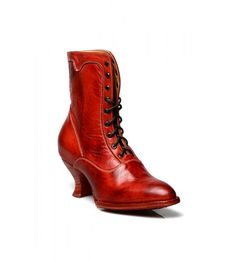 Vintage Shoes You'll be the the talk of the town in these Eleanor Victorian Style Leather Ankle Boots in Red Rustic by Oak Tree Farms! Vintage Inspired Shoes, Vintage Style Shoes, Victorian Boots, Victorian Fashion, Modern Victorian, Saddle Shoes, Shoe Boots, Bootie Boots, Leather Ankle Boots