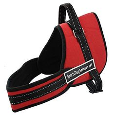 Red Nylon Multipurpose Sports Dogs Pulling Training Harness Heavy Duty Husky Pitbull Size L >>> Details can be found by clicking on the image.