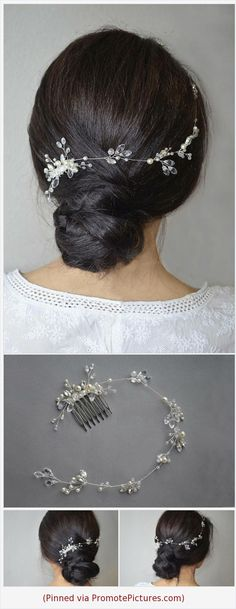 Bridal Crystal Wedding hair vine Bridal Crystal Boho headpiece Bridal Wedding hair piece Bridal hair comb Boho hair accessory Hair jewelry https://www.etsy.com/NovaHandmade/listing/595706329/bridal-crystal-wedding-hair-vine-bridal?ref=shop_home_active_6  (Pinned using https://PromotePictures.com)