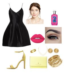 """Untitled #84"" by valerialoman on Polyvore featuring Charlotte Russe, Gorjana, ABS by Allen Schwartz, Kate Spade, Lana, Versace, Lime Crime, Ralph Lauren and Jennifer Behr"