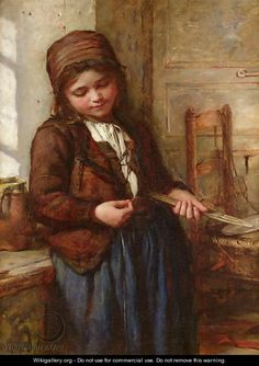 A Boulogne Fish Girl - Frank Holl
