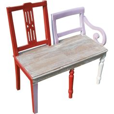 Sure to get a smile, this whimsical youth bench built for two is made for the fun at heart. A warm wood toned seat is combined with two distinctly different ch…