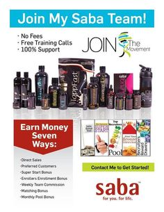 Saba ACE Appetite Control and Energy!! Make extra money at home :) sign up today to be an associate www.sabaforlife.com/janetcuchetti