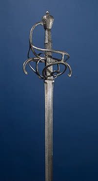 Sword  Germany. 17th century. Note the hexagonal cross-section of the blade.