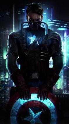 Captain America Cyberpunk iPhone Wallpaper - iPhone Wallpapers