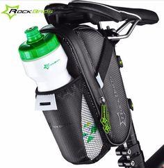 ROCKBROS Bicycle Saddle Bag Cycling Rear Seat Tail Bag Bike Accessories With Water Bottle Pocket Waterproof MTB Bike Rear Bags