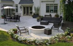 New Backyard Patio Furniture Layout Ideas Concrete Patio Designs, Backyard Patio Designs, Backyard Landscaping, Concrete Pavers, Patio Ideas, Patio Layout, Brick Patios, Backyard Makeover, Pergola