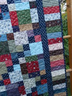 Quilt Pattern Salt Water Taffy Crib to King Sizes Hard image 4 Scrap Quilt, Patchwork Quilt Patterns, Jellyroll Quilts, Quilt Block Patterns, Easy Quilts, Quilt Blocks, Star Quilts, 4 Patch Quilt, Plaid Quilt