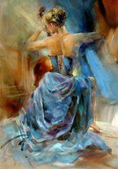 "art-and-dream: "" Artist painter Russian . Anna Razumovskaya """