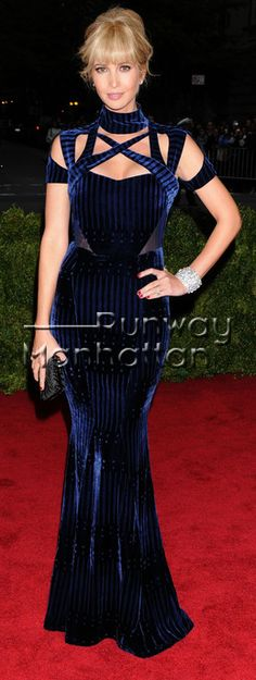 #IvankaTrump arriving at the Costume Institute Benefit celebrating the opening of Schiaparelli and Prada: Impossible Conversations exhibition at The Metropolitan Museum of Art in New York City - May 7, 2012 - Photo: Runway Manhattan/CelebrityPhoto -- #MetGala2012 #MetGala #CostumeInstitute Gala