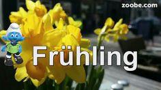 Frühling Sonne   . Schlumpf von der Schlümpfe Familie Zoobe deutsch